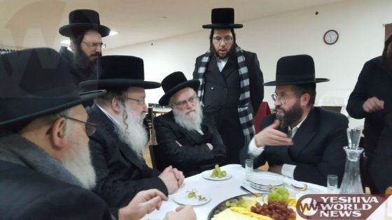 Photo Essay: Nadvorna Rebbe Visiting Reb Shayele's Guest House 'Mayan Yeshuos' In Kerestir (Photos by JDN)