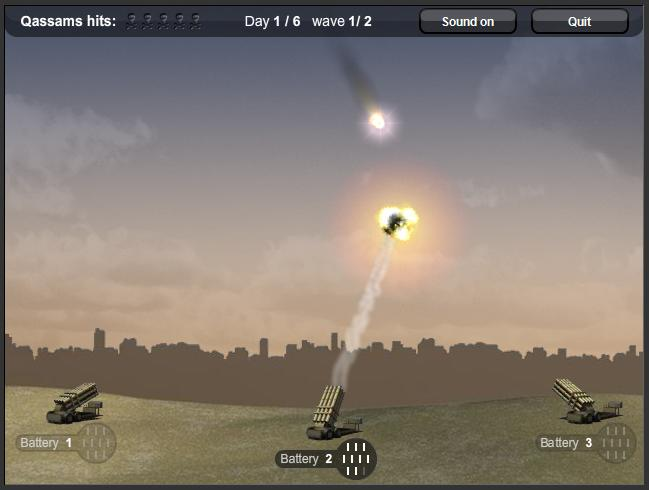 Destroy The Qassams - Iron Dome Game