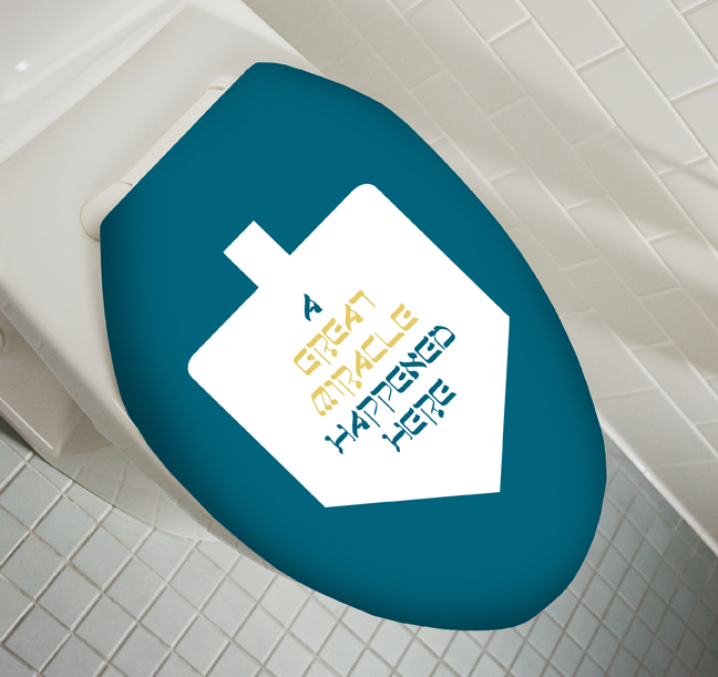 Hannukah Toilet Seat Cover. Posted By Psycho On Jan 25, 2009 Funny, Holidays